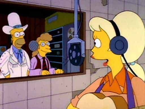 Homer as a country music agent