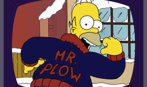 Homer Simpson as Mr Plow