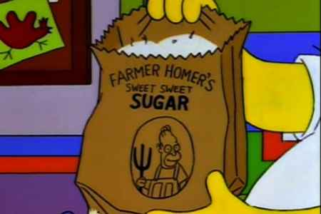 Homer's side hustle selling sugar