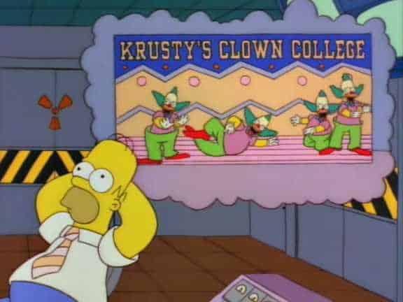 Homer the clown