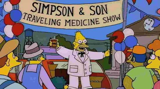 Simpson and son snake oil stand
