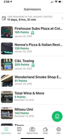 Job spotter review submissions screenshot