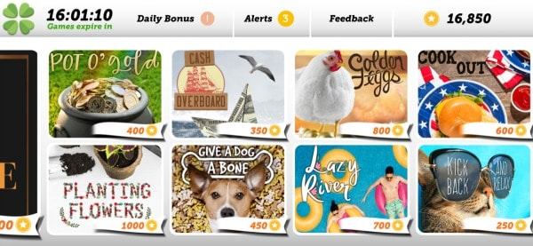 how does lucktastic work? this screenshot shows various virtual cards where you can win tokens or cash