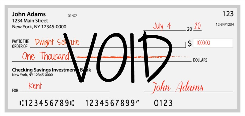 example of how to void a check
